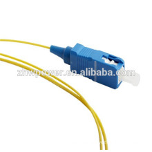 OEM 0.9mm fiber optic pigtail sc apc pigtail, sc upc simplex optical fiber pigtail made in China